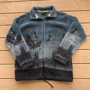 Vintage nature fleece coat